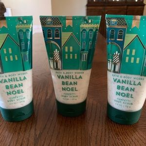✅🆕Bath & Body Works 3 Vanilla Bean Noel BodyScrub